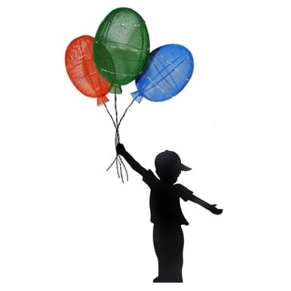 Alpine Solar Boy Silhouette Balloon Décor, 65 Inch Tall