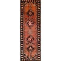 "Antique Bidjar Geometric Hand-Knotted Wool Persian Oriental Rug - 13'2"" x 4'4"" Runner"