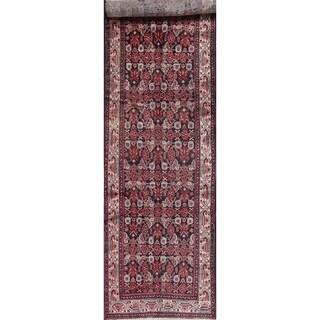 """Vintage Hamedan Geometric Hand-Knotted Wool Persian Oriental Rug - 13'5"""" x 3'8"""" Runner"""