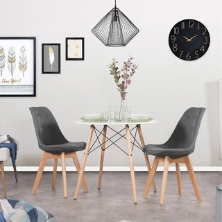 Carson Carrington Sagliden Fabric/ Wood Upholstered Dining Chair (Set of 2)