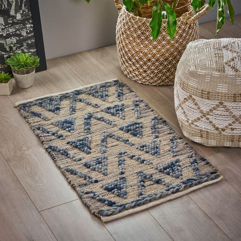 Cerrito Boho Wool, Hemp and Cotton Scatter Rug by Christopher Knight Home - 2' x 3'
