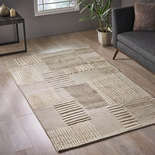 Link to Abrozo Modern Wool Area Rug by Christopher Knight Home - 5' x 8' Similar Items in Rugs