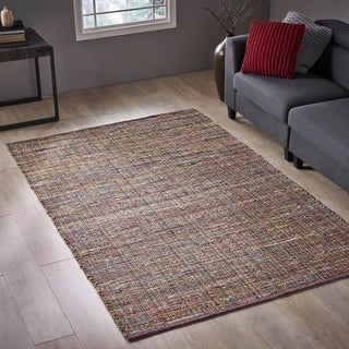 Boxford Transitional Hemp and Fabric Area Rug by Christopher Knight Home