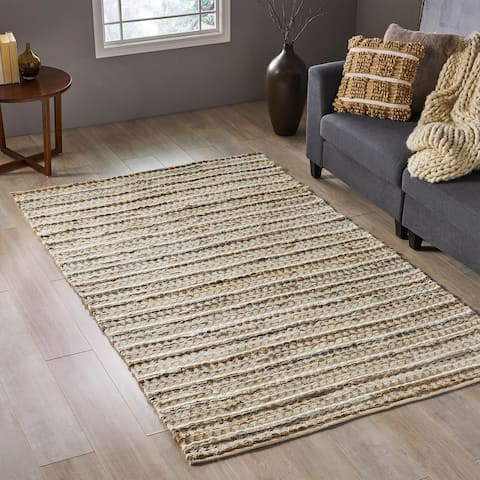 Casselman Transitional Wool and Denim Area Rug by Christopher Knight Home - 5' x 8'