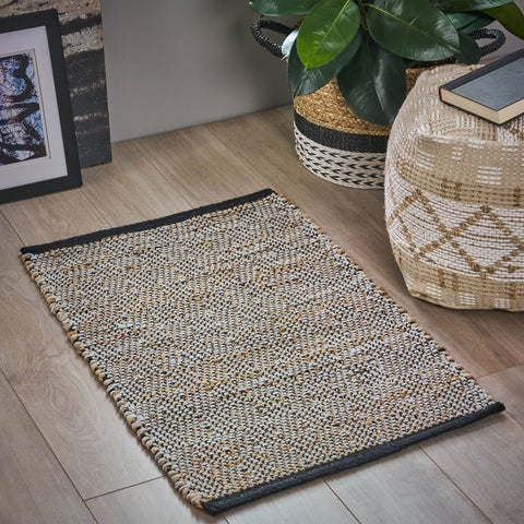 Crossman Boho Hemp and Cotton Scatter Rug by Christopher Knight Home - N/A