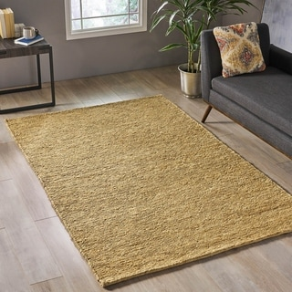 Link to Alvaston Modern Hemp Area Rug by Christopher Knight Home - 5' x 8' Similar Items in Rugs