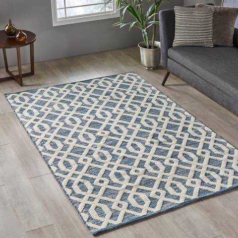 Jenson Modern Wool Area Rug by Christopher Knight Home - 5' x 8'