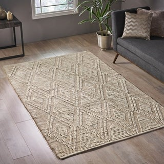 Dunkeld Modern Jute and Wool Area Rug by Christopher Knight Home - 5' x 8'