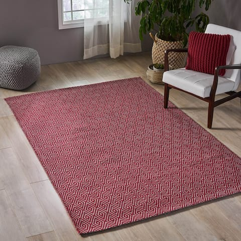 Dolan Boho Cotton Area Rug by Christopher Knight Home - 5' x 8'
