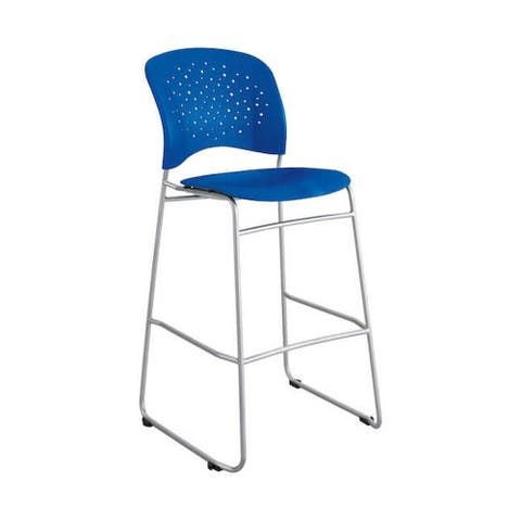 Safco Reve Round Back Latte Plastic Bistro Height Bar Chair