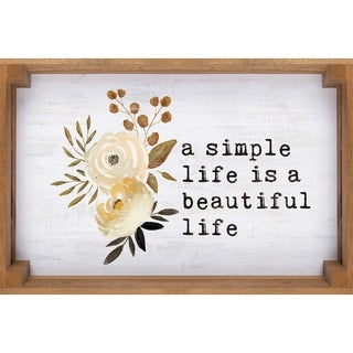 A Simple Life Is A Beautiful Life Dimensional Décor