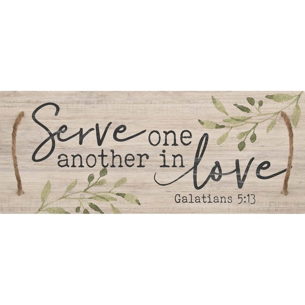 Serve One Another In Love Decorative Tray