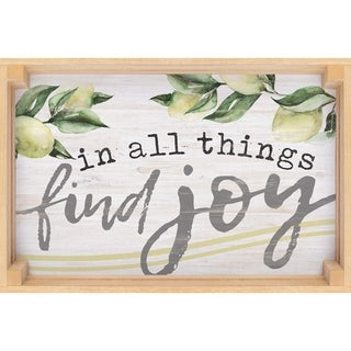 In All Things Find Joy Dimensional Decor