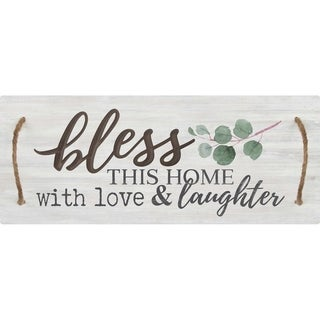 Bless This Home With Love And Laughter Decorative Tray