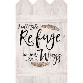 I Will Take Refuge In Your Wings  Embellished Décor