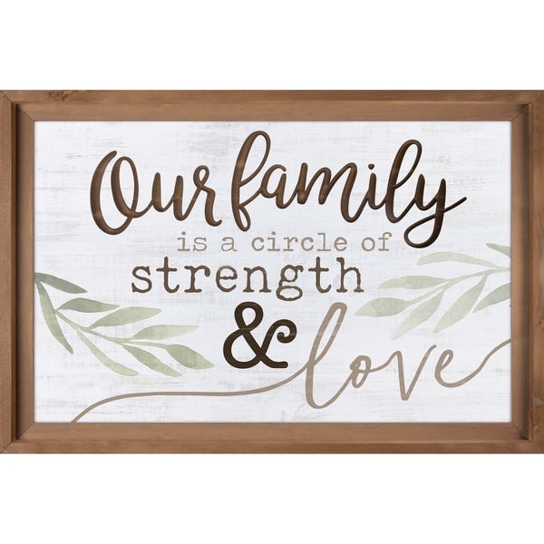 Our Family Is A Circle Of Strength And Love Dimensional Decor