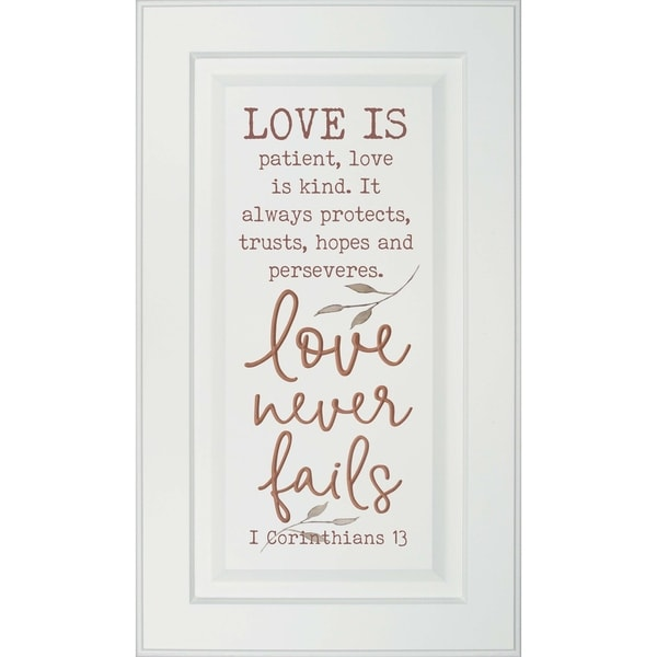 Love Is Patient Love Is Kind It Always Protects Trusts Hopes Perseveres Love Never Fails 1 Corinthians 13 Door