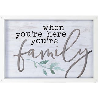 When You're Here You're Family Framed & Carved Art