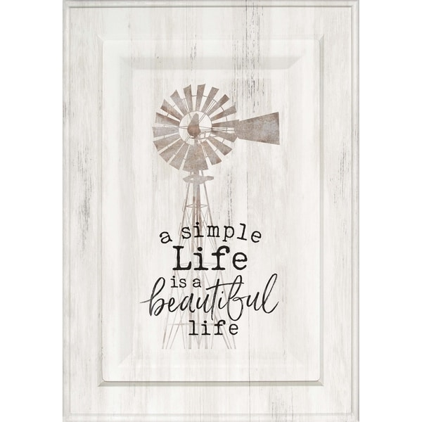 A Simple Life Is A Beautiful Life Door