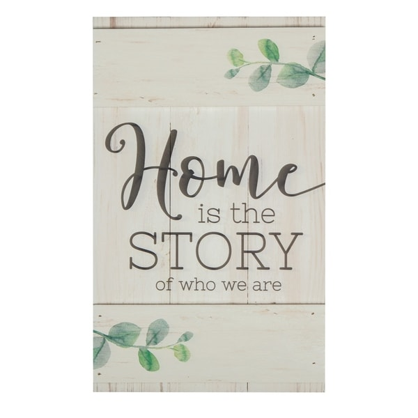 Home Is The Store Of Who We Are Embellished Décor