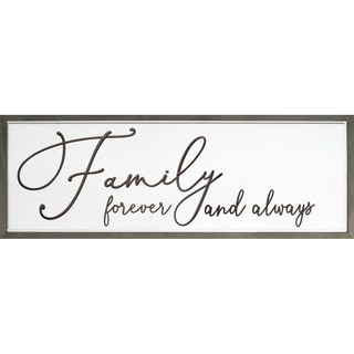 Family Forever And Always Framed & Carved Art