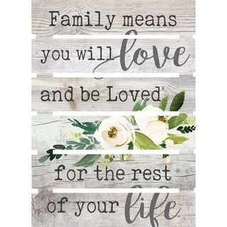 Family Means You Will Love And Be Loved For The Rest Of Your Life Embellished Décor