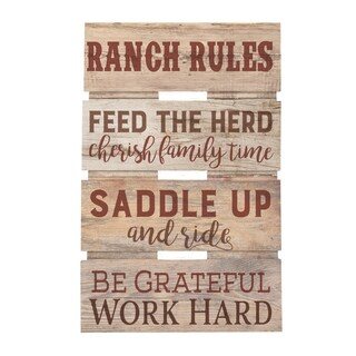 Ranch Rules Embellished Décor