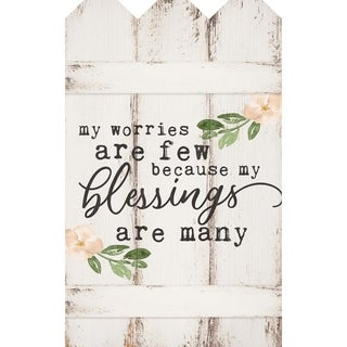 My Worries Are Few Because My Blessings Are Many Embellished Décor