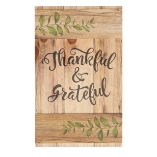Thankful & Grateful Embellished Décor