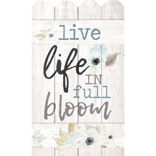 Live Life In Full Bloom Embellished Décor