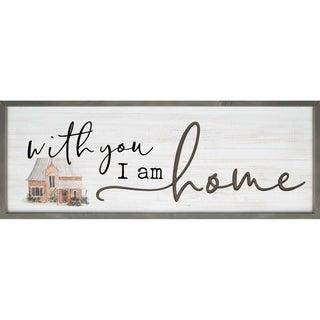 With You I Am Home Framed & Carved Art