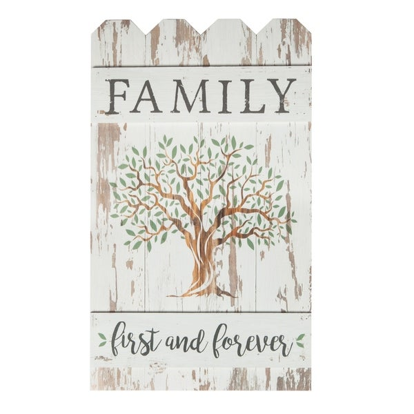 Family First And Forever Embellished Décor