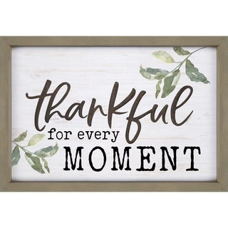 Thankful For Every Moment Framed & Carved Art