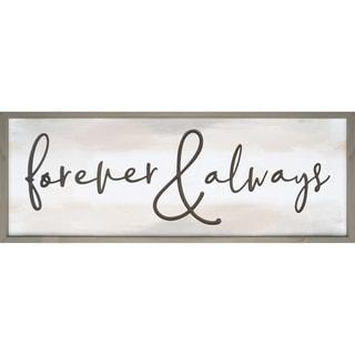 Forever & Always Framed & Carved Art