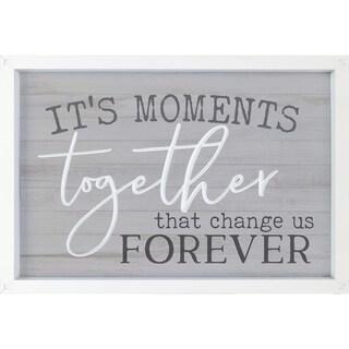 It's The Moments Together Than Change Us Forever Framed & Carved Art