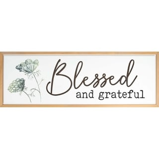 Blessed And Grateful Framed & Carved Art
