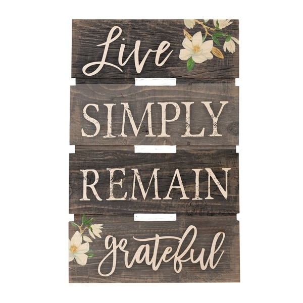 Live Simply Remain Grateful Embellished Décor