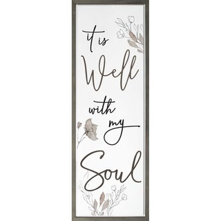 It Is Well With My Soul Framed & Carved Art