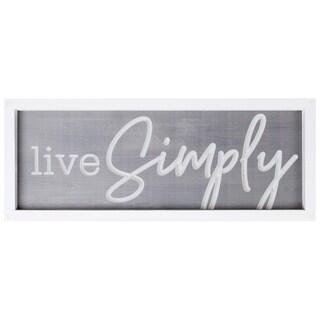 Live Simply Framed & Carved Art