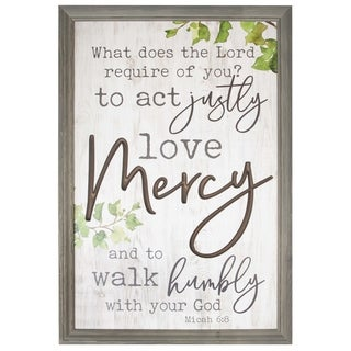What Does The Lord Require Of You? Framed & Carved Art