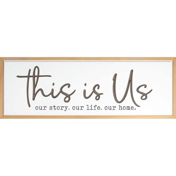 This Is Us Framed & Carved Art