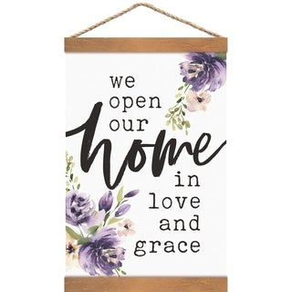 We Open Our Home In Love And Grace Banner Art