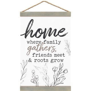 Home Where Family Gathers, Friends Meet & Roots Grow Banner Art