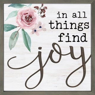 In All Things Find Joy Framed & Carved Art
