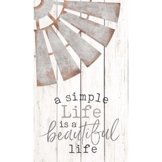 A Simple Life Is A Beautiful Life Embellished Décor