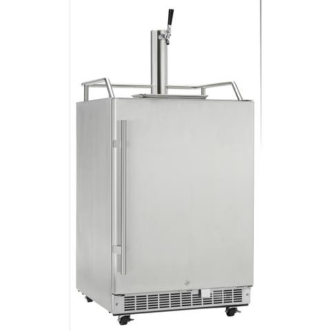 Danby Silhouette Professional 5.5 Cu. Ft. Outdoor Rated Keg Cooler in Stainless Steel DKC055D1SSPRO