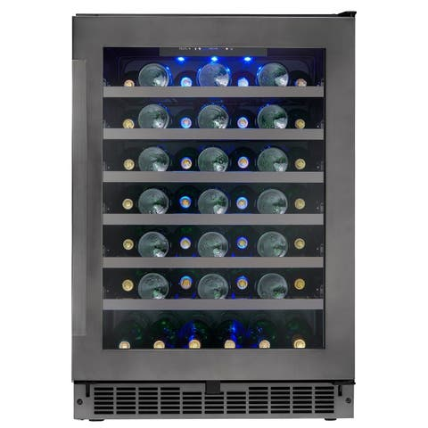 Danby Silhouette Select 48 Bottle Built-in Wine Cooler in Black Stainless SSWC056D1B-S