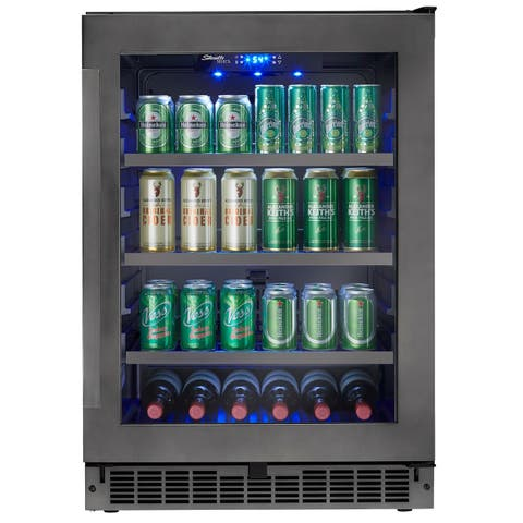 Danby Silhouette Select 5.6 Cu. Ft. Built-in Beverage Center in Black Stainless SSBC056D2B-S