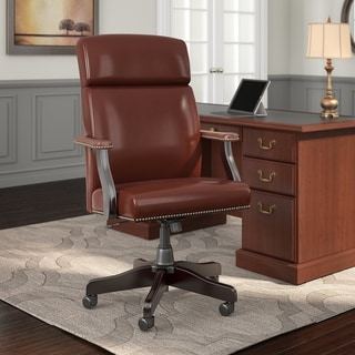 "Copper Grove Dobrich High Back Leather Executive Office Chair - 27.56""L x 27.17""W x 45.28""H"