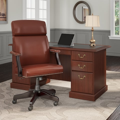 Copper Grove Dobrich Executive Desk with High Back Office Chair